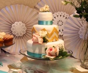 Chocolate Stout Bridal Shower Cake